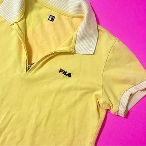 Rare FILA Cropped Polo